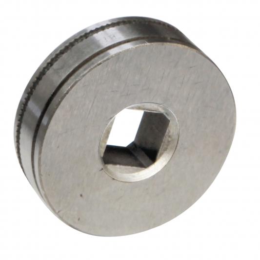 Galet type D  pour fil acier Ø 0,6 et 0,8 mm  soudure MIG poste GYS axe carré