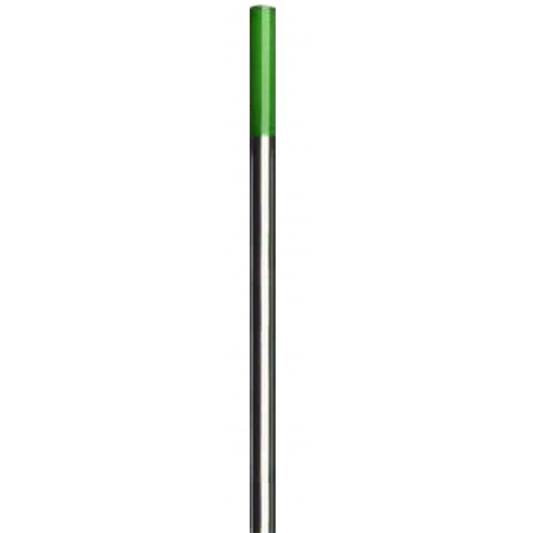 10 électrodes Tungstène(verte) longueur  pour soudure TIG aluminium