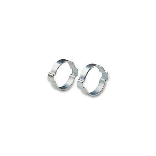 2 colliers à oreilles pour tuyau Ø extérieure  11/13  mm
