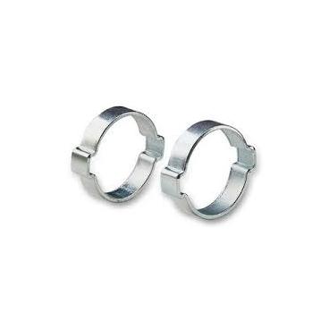 2 colliers à oreille pour tuyau Ø extérieure  11/13  mm