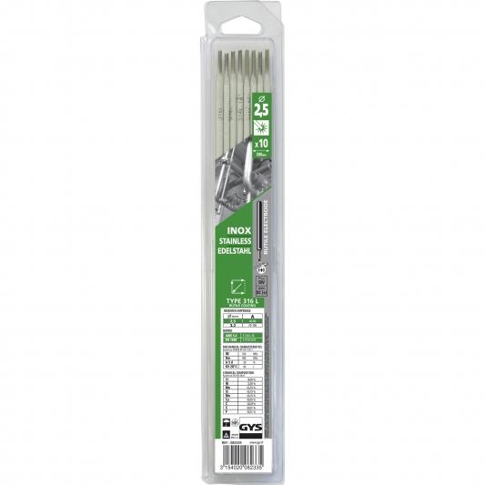 électrodes inox 316 L pour soudure inox Ø 2,5 mm GYS