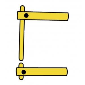2 bras droit 120 mm + 2 électrodes droites Ø 12 mm Modular 230 et 400 Telwin
