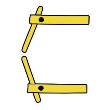 2 bras droit 120 mm + 2 électrodes inclinés Ø 12 mm Modular 230 et 400 Telwin