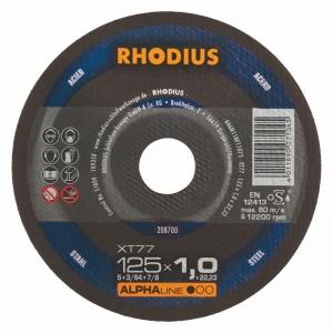 Disque à tronçonner l'acier Ø 125 mm  Rhodius XT77