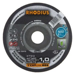 Disque à tronçonner l'aluminium Ø 125 mm  Rhodius XT24