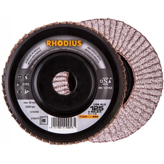 Disque à lamelles pour  l'aluminium  Ø 125 mm  Rhodius LGA ALU