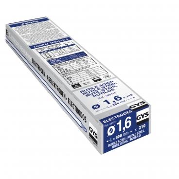 210 électrodes rutiles pour soudure acier Ø 1,6 mm GYS