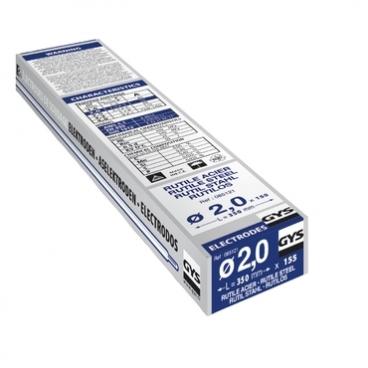 155 électrodes rutiles pour soudure acier Ø 2 mm GYS