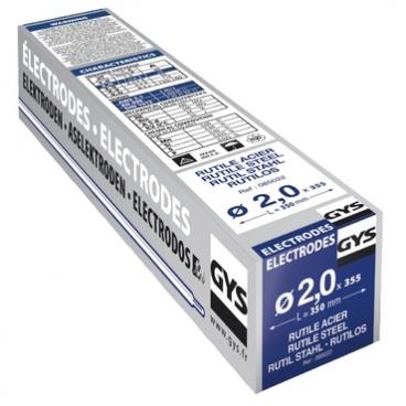 355 électrodes rutiles pour soudure acier Ø 2 mm  GYS