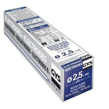 230 électrodes rutiles pour soudure acier Ø 2,5 mm  GYS