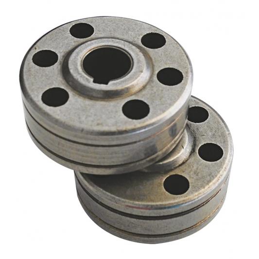 2 Galets  entrainement fil aluminium  pour poste DECA  JOB 522 et 523 LAB