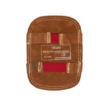 Bouclier de protection de main aluminisé avec dos en cuir Weldas