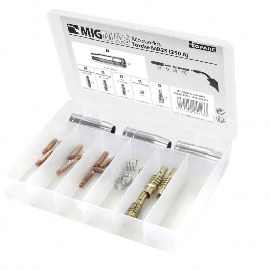Coffret d'accessoires pour torche mig MB 25 250A
