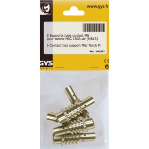 5 supports de tube contact pour torche Binzel 150 A