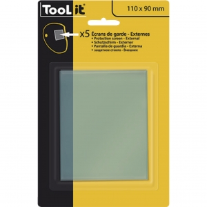 5 ecrans de protection  110 x 90 mm  mm externe pour cagoule GYS