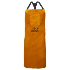 Tablier de soudure en croûte marron