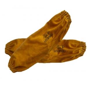 Manchette  en croûtede cuir marron  serrage par élastique