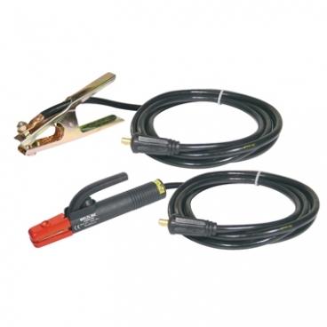 Kit  Porte électrode 400  A + pince de masse et câbles 4 m  50 mm² Weldline