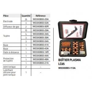 Coffret de consommable pour torche Plasma Lincoln LC 65 manuelle