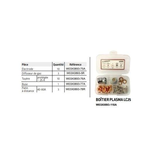 Coffret d'accessoires pour torche Plasma Lincoln LC 25