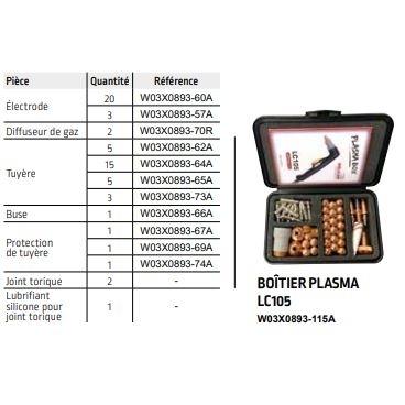 Coffret d'accessoires pour torche Plasma Lincoln LC 105