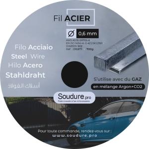 Fil acier diametre 0,6 mm  pour soudure MIG