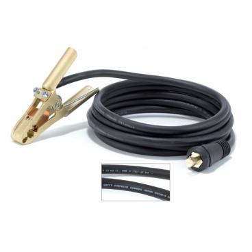 Pince de masse OMEGA 4  en laiton + câble 35 mm² longueur 4 m