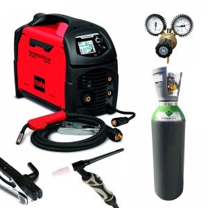 Pack Dual 210 +bouteille gaz rechargeable soudure MIG acier