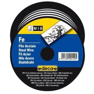 Fil acier diametre 0,8 mm  pour soudure MIG    DECA bobine 5 kg